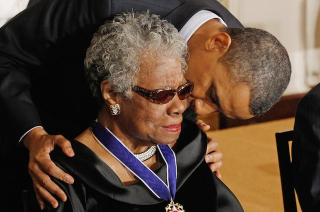 Dr. Angelou Received the Presidential Medal of Freedom From President Obama in 2011.
