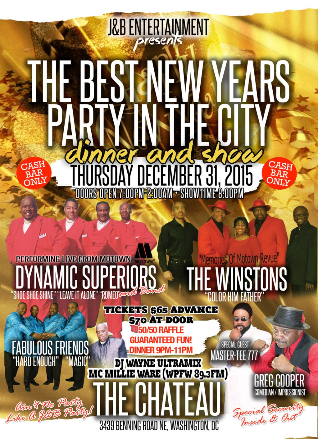 New years party j b ent