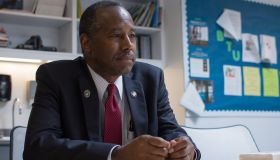 Carson, in return to Baltimore, backs sales of public housing to private developers