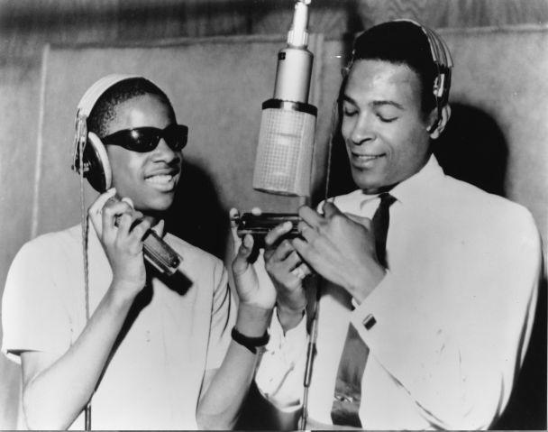 Stevie Wonder And Marvin Gaye