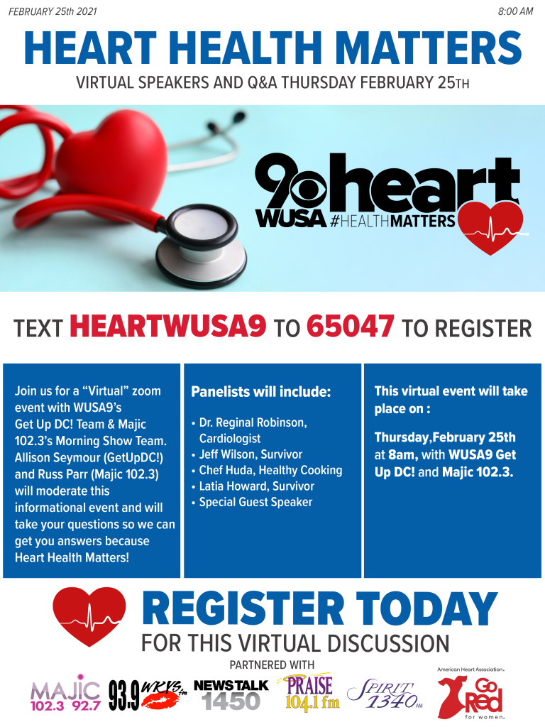 WUSA 9's Heart Health Matters Virtual Event