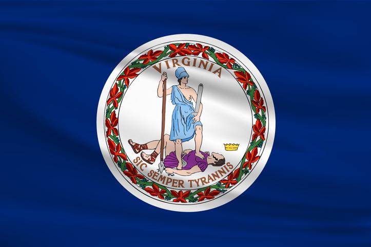 Virginia Waving Flag